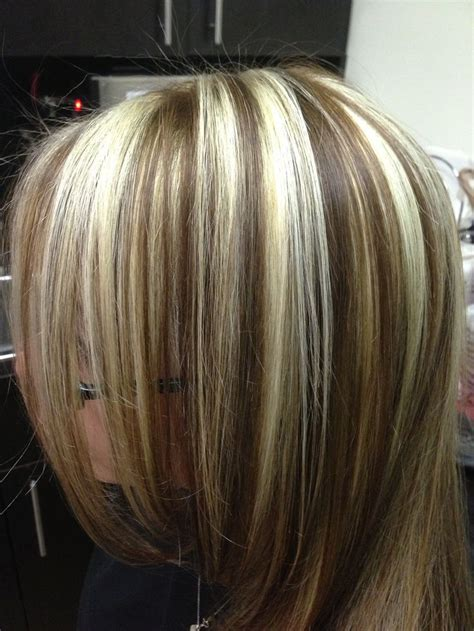 pictures of high and lowlights for hair blonde highlights and golden brown lowlights derrica