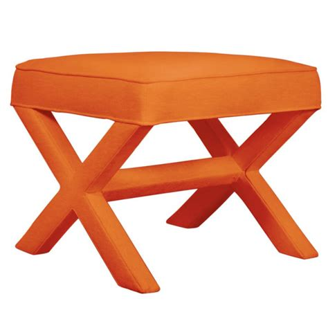x bench stool orange jonathan adler x bench chairblog eu