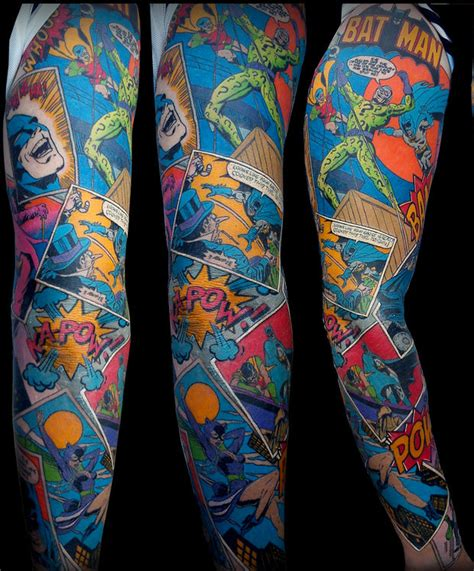awesome batman sleeve tattoo where does he get that