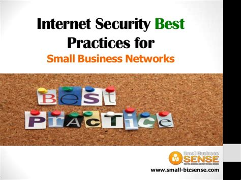security best practices for small business networks