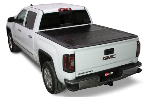 gmc sierra bed cover 2014 2018 gmc sierra hard folding tonneau cover bakflip g2 226121