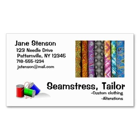 Sewing And Alteration Business Card Template by Tailor Business Cards A Collection Of Design Ideas To Try