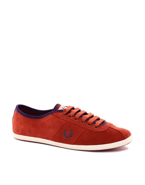 fred perry sneakers fred perry suede sneakers in for lyst