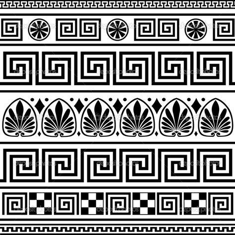 greek pattern svg conjunto de ornamentos griego vector ilustraci 243 n de