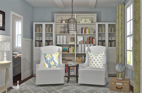 housing design ideas home library design