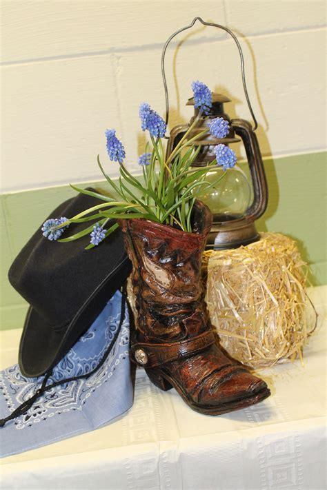 Western Party Arrangement Decoration   Cowboy Boot / Hat