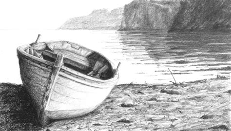boat on beach drawing boat on a shore arttutor