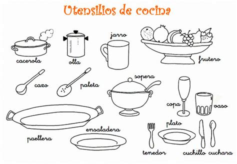 dibujos de cocina para colorear dibujos para colorear de utensilios de cocina web