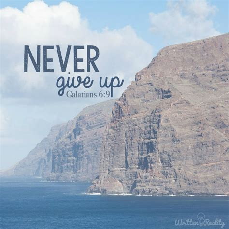 never give up - Written Reality