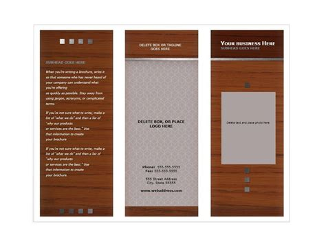 Template Brochure Free by 31 Free Brochure Templates Ms Word And Pdf Free
