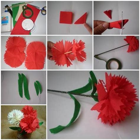 How To Make Paper Carnations - diy crepe paper carnation