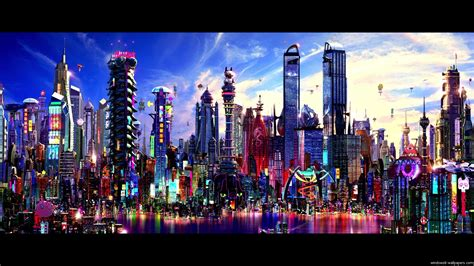 colorful cities city with colorful buildings colorful city wallpaper