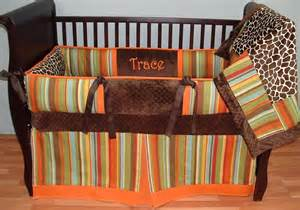 madagascar orange baby bedding this custom 3 pc baby crib