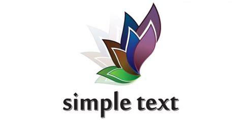 design logo psd flower petal logo design psd file free download