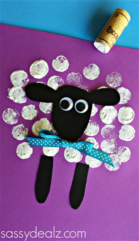 new year sheep pattern sheep crafts wine cork printing crafts