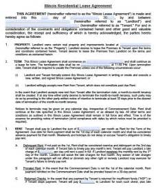 Residential Lease Agreement Template Free Illinois Residential Lease Agreement Pdf Template