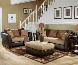 livingroom furnature furniture signature design lawson saddle living