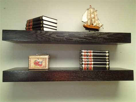 floating shelves oak wood espresso color free by mrselecta