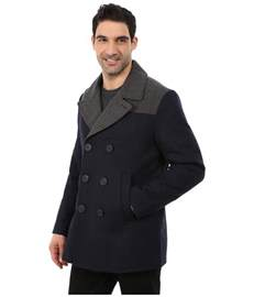 what color is peacoat color block wool peacoat zappos free