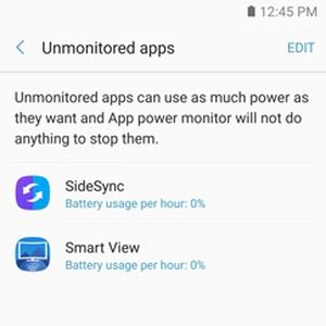how to use app power monitor on samsung galaxy note7