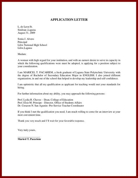 unsolicited cover letter template unsolicited application letter