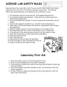 science lab safety rules 8th grade worksheet lesson planet