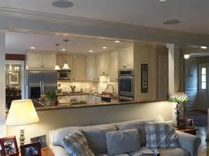 open living room and kitchen half wall ideas for kitchen traditional kitchen open