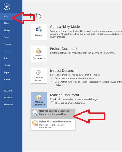Ms Word Recover Unsaved Document 2007