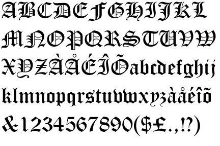 tattoo fonts generator old english worhpacitol