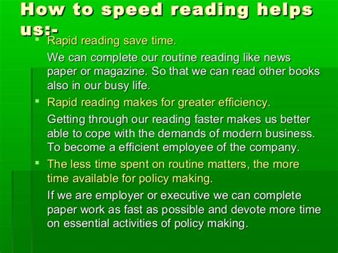 speed reading how to your reading speed and comprehension in less than 24 hours ã a scientific guide on how to read better and faster books speed reading ppt