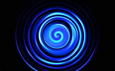 wallpaper blue abstract spiral black background