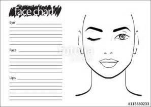 Blank Makeup Template by Quot Chart Makeup Artist Blank Template Vector