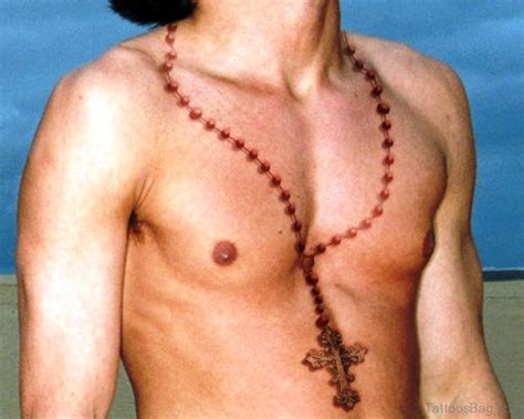 praying chest 52 rosary tattoos 47 superb rosary tattoos on neck