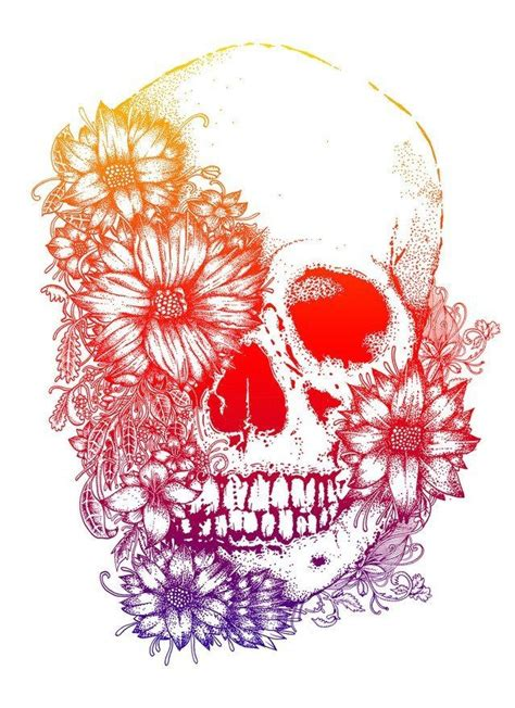 skull with flowers tattoo designs 25 best ideas about flower skull tattoos on