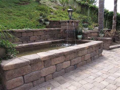 Buy Fire Pit Table - country manor retaining wall