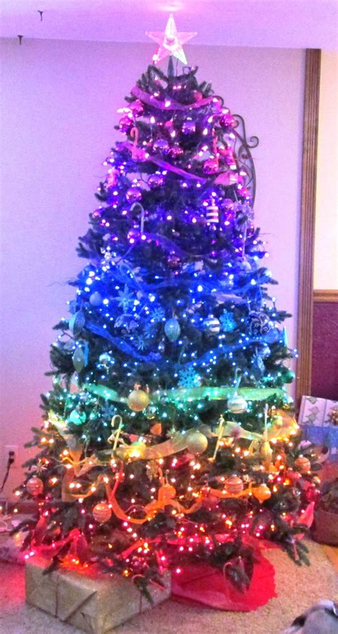 my mother s rainbow christmas tree rainbow christmas