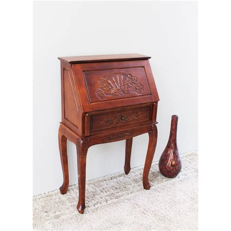 Small Secretary Desk In Dual Walnut 3832 Secretarys Desk