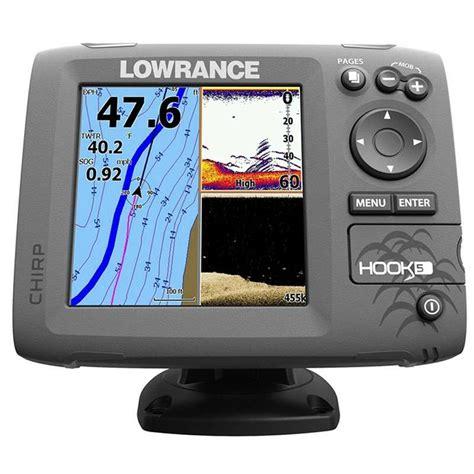 best boat fish finder chartplotter lowrance hook 5 fishfinder chartplotter combos tackledirect