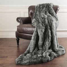 faux snow leopard fur throw winter white