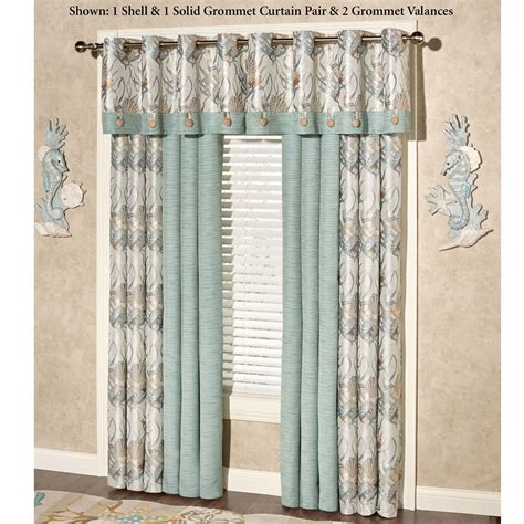 Coastal Window Curtains Coastal Grommet Window Treatment