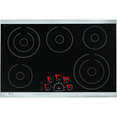 smoothtop electric cooktop lg lce3081st 30 quot smoothtop electric cooktop 5 steady heat