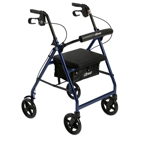 rollator with seat rs5 r728bl rollator with fold up and removable back