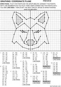 Graphs coordinate planes number lines worksheets