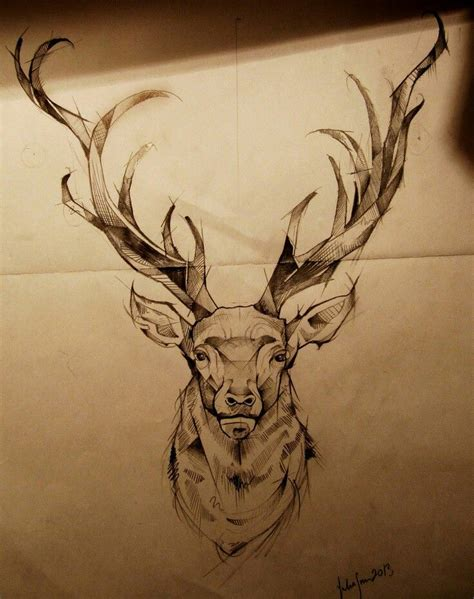 stag tattoos the 25 best elk ideas on geometric elk