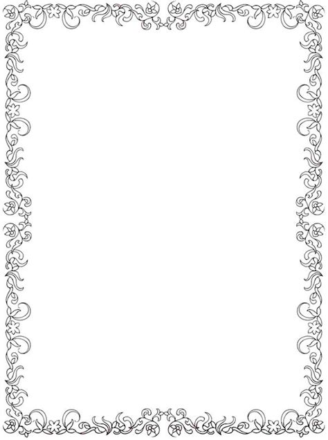 coloring pages of flower borders 1121 best frames bordes images on pinterest tags