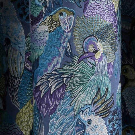 Maduras Rideaux by Curtain With Grommets Jungle Birds Blue Madura