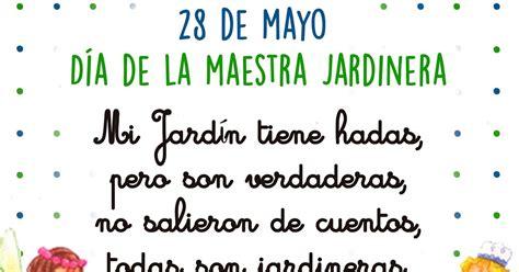 palabras para los jardines de infantes 28 de mayo d 237 a de la maestra jardinera