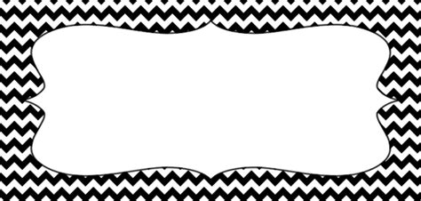 black pattern header placement cards with a black and white chevron pattern