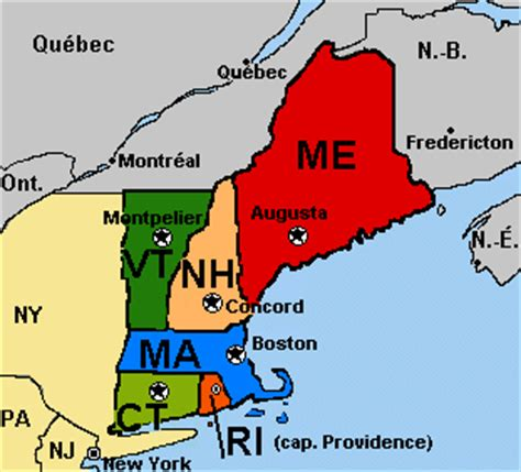 Where Is New England On The Map by Terms Amp Themes