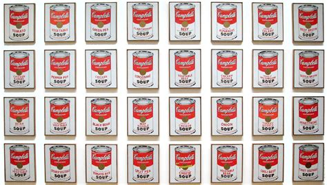 highlights of postmodernism andy warhol cbell s soup cans